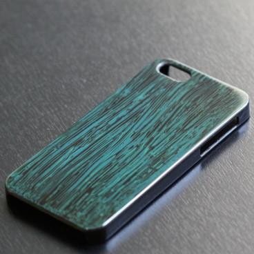 iPhoneケース くしめ塗り 青