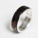 silver×漆 Ring 黒黄赤青