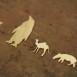 動物シルエット 真鍮